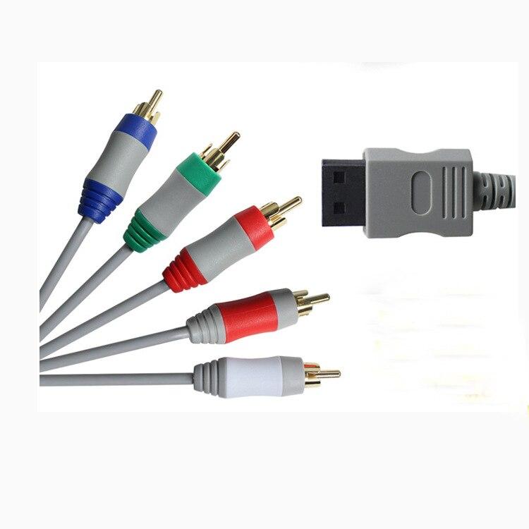 6ft componente 1080 p hdtv av áudio adaptador cabo cabo fio 5 rca av cabo f para nintendo wii para nintendo wi i u console de jogos