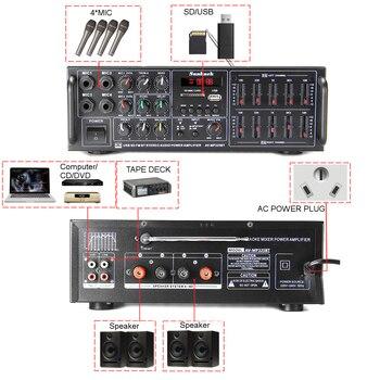 Усилитель мощности SUNBUCK 325BT, 2*60 Вт, Bluetooth, USB, SD, FM, DVD, AUX 4