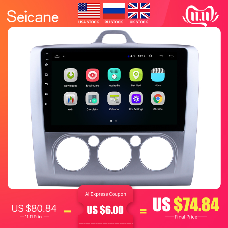 Seicane 9 zoll Android 8.1 Auto Radio Für ford focus EXI MT 2 3 Mk2 2004 2005 2006 2007 2008 2009 -2011 2Din GPS Multimedia-Player