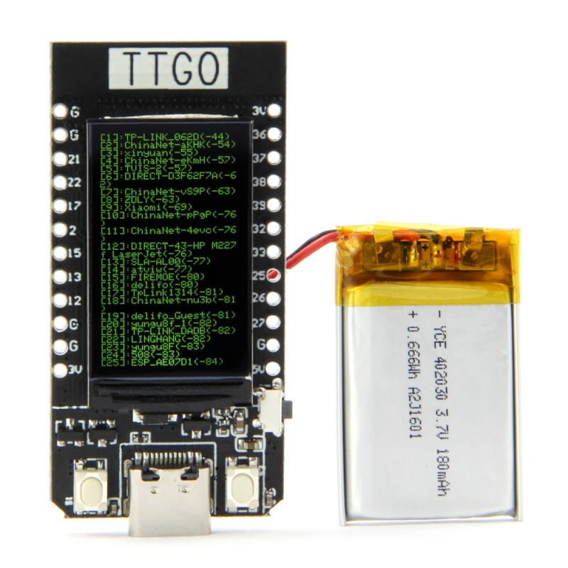 LILYGO® ESP32 TTGO T-Display WiFi And Bluetooth Module Development Board For Arduino 1.14 Inch LCD ESP32 Control Board