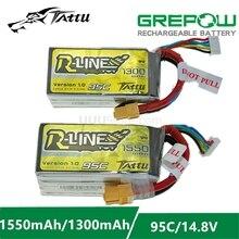 ACE Tattu r-line 1.0 LiPo batterie Rechargeable 1050 1300 1550mAh 95C 14.8V 22.2V 4s1p 6s1p pour RC FPV course Drone quadrirotor