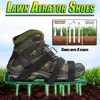Chaussures aérateur de pelouse nouveauté avec 6 lacet jardin cour herbe cultivateur Scarification ongles outil LS'D