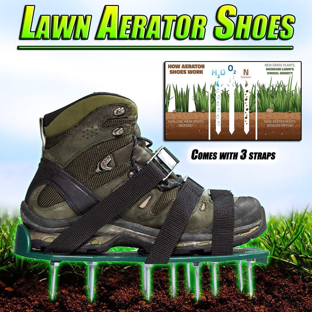 Lawn Aerator Shoes New arrival with 6 shoelace Garden Yard Grass Cultivator Scarification Lawn Aerator Nail Shoes Tool LS'D Tool