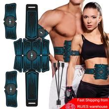 EMS Abdominal Belt Electrostimulation ABS Muscle Stimulator Hip Muscular Trainer Toner Home Gym Fitness Equipment Women Men