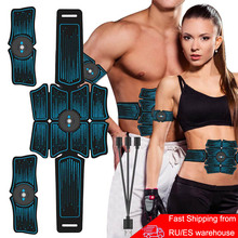 EMS 복부 벨트 Electrostimulation ABS 근육 자극기 엉덩이 근육 트레이너 토너 홈 체육관 휘트니스 장비 여성 남성