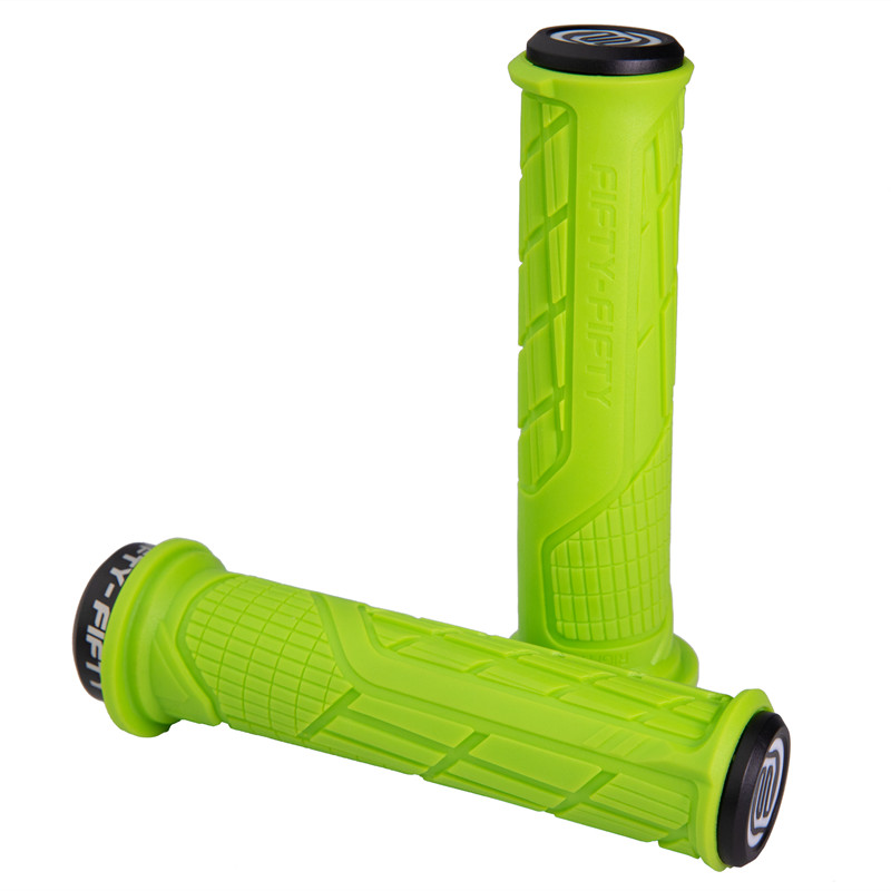 FIFTY FIFTY MTB Bicycle Grips Anti Skid Rubber Compound Bike Handlebars Grips Mountain bike Handle Bar Grips in Bicycle Grips from Sports Entertainment