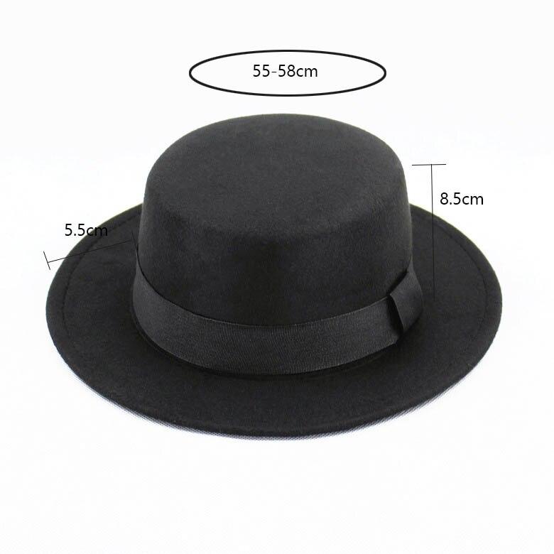 New Wool Retro Felt Pork Pie Hat BREAKING BAD Hat for Men Women Trilby Wool Cap Black Ribbon Band Bowler fedoras