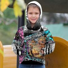 Красивые камуфляжные худи с 3d принтом оленя детский пуловер