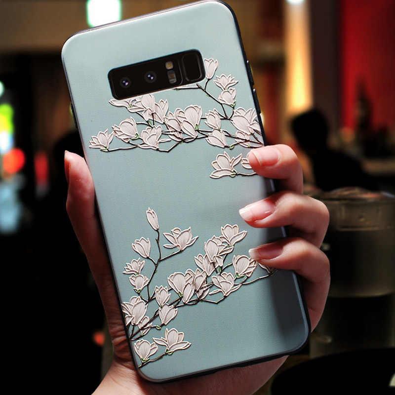 עבור Huawei P40 לייט 5G מקרה 6.5 ''3D פרח הבלטה סיליקון טלפון Huawei P40 לייט מכסה p40 Lite E P 40 רך הקלה