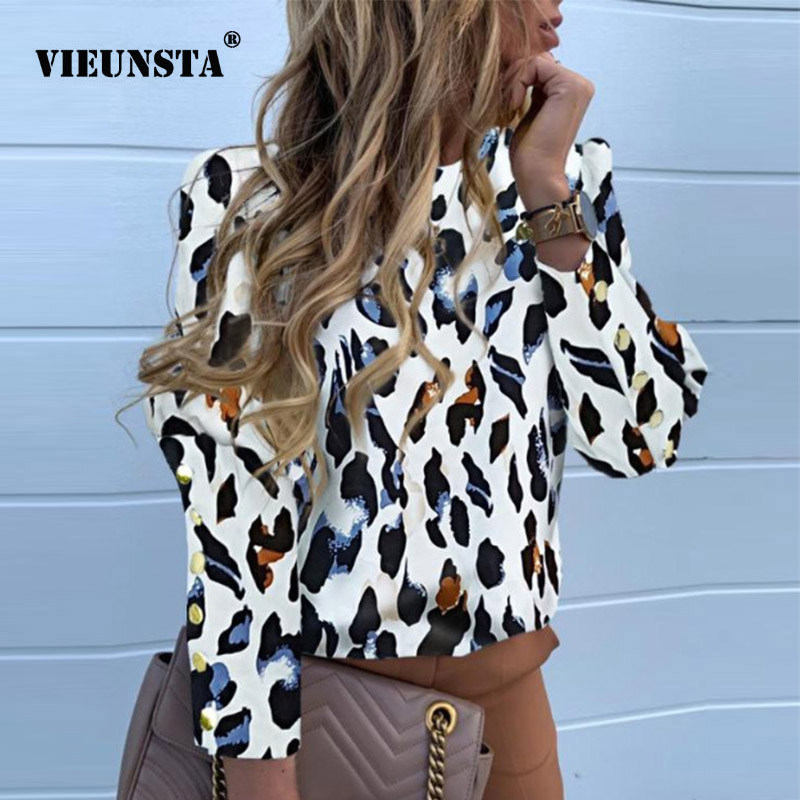 3XL Women Office Lady Back Metal Buttons Blouse Sexy O Neck Long Sleeve Elegant Shirt 2019 Autumn Solid Women Tops Drop Shipping