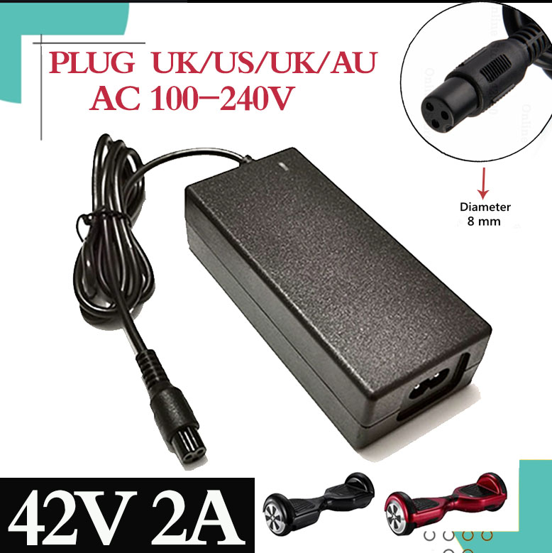 1PC lowest price 42V 2A universal battery charger for Hoverboard smart balance 36V electric scooter adapter chargerEU   US AU UK