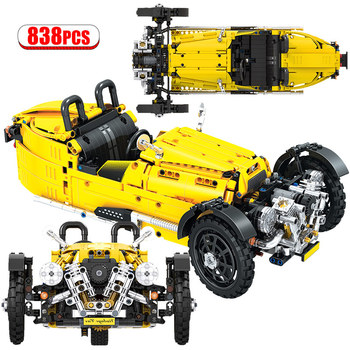 Winner City Classical Convertible Cars Building Blocks Technic Truck Three Wheeled Model Car Bricks Toys for Children