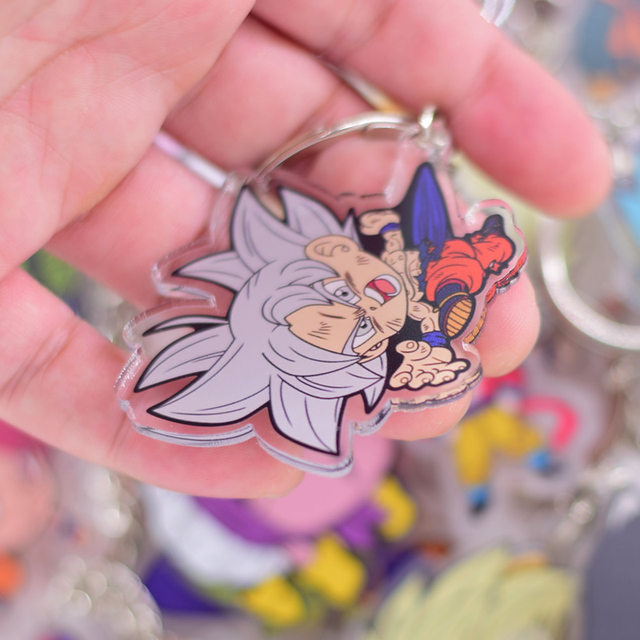 Hot Sales  Anime Key Chain Chibi Keyring  1 Pcs High Quality Cartoon Keychain Accessories Charms Acrylic Pendant Part One 5