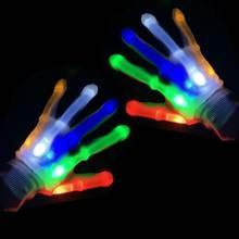 1 пара нейлоновые перчатки для Хэллоуина мигающий светодиодный