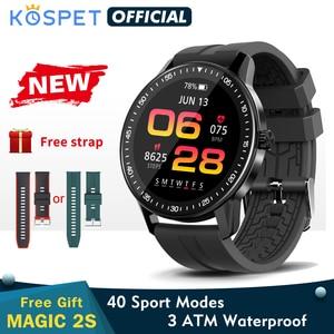 Смарт часы Smartwatch 2020 новые KOSPET MAGIC 2s смарт-часы мужские 3ATM водонепроницаемые Bluetooth фитнес-трекер часы для женщин для Xiaomi Android IOS