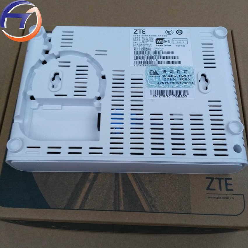 Zte zxhn/ZXA10 F660 V6.0GPON onu ont ftth と 2GE + 2FE + 1 電源 + 1 usb + 1 電話