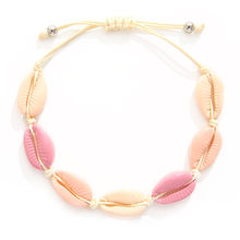 Rainbow color Fashion Wholesale paua genuine cowrie sea shell bracelet in adjustable(China)