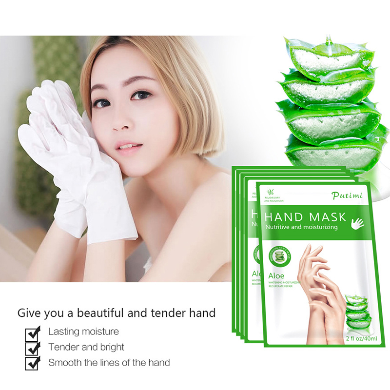 Moisturizing Hand Masks Aloe Extract Super Smoothing Whitening Spa Hand Gloves Anti-Aging Gloves for Hand Mask Hand Care