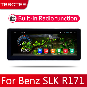 Android 2 Din Car radio Multimedia Video Player auto Stereo GPS MAP For Mercedes Benz SLK Class R171 W171 2010~2018 Media Navi