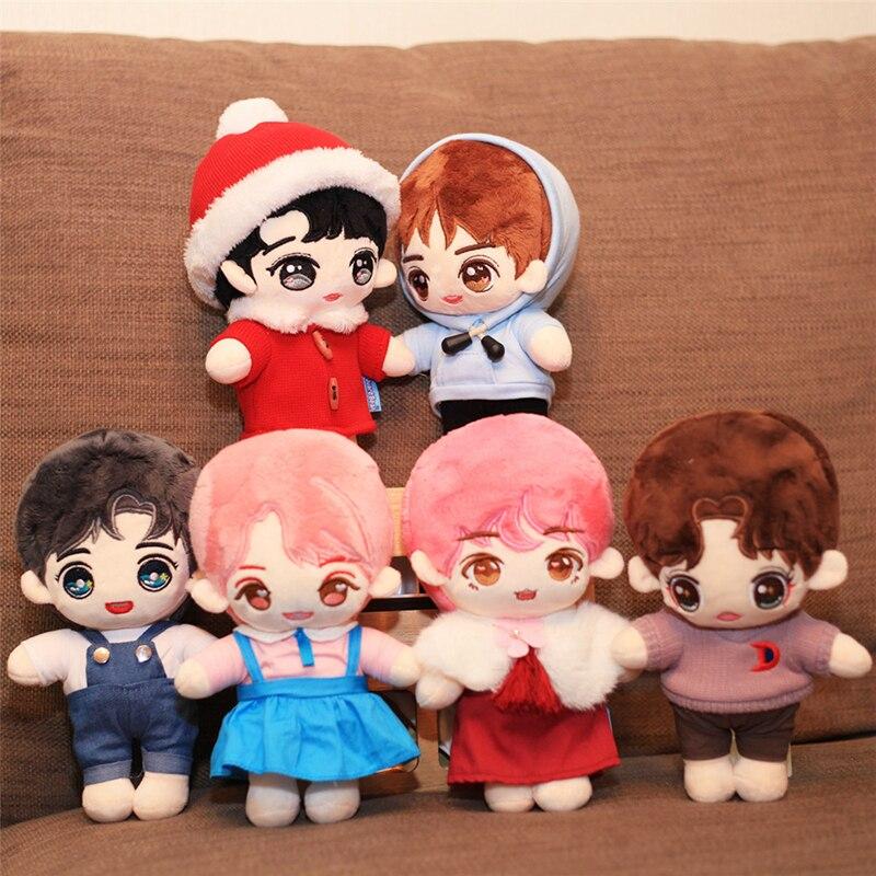 1PC 25CM Human Doll Plush Toy Idol Pop Idol Doll Boys Doll Stuffed Toy Pillow Super Star Doll Boys Soft Doll Toy Christmas Gift