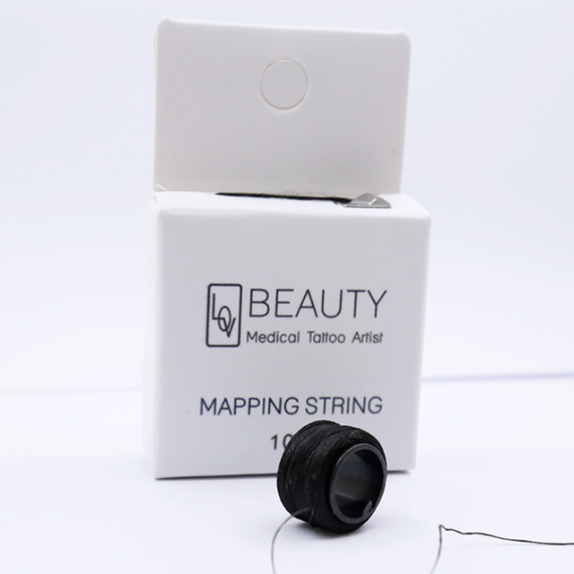 Eyebrow Mapping String Thread for Microblading Pre-Inked 1mm Positioning Eyebrow Measuring Tool mapping Thread 10 m per Box 1