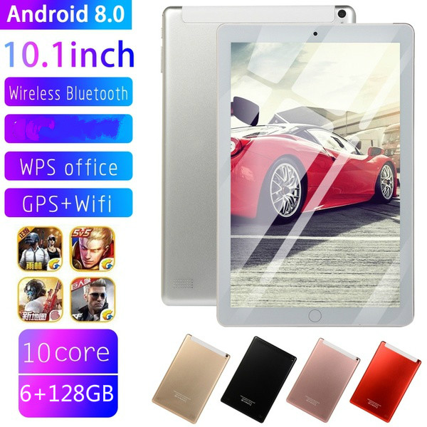 New Original 10 Inch Tablet Pc Octa Core 4G Phone Call Google Market GPS WiFi FM Bluetooth 10.1 Tablets 6G+12G Android 8.0 Tab