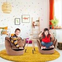 Cinco dedos luva de beisebol em forma crianças sofá cadeira pura puff pele da criança capa para o sofá melhores presentes