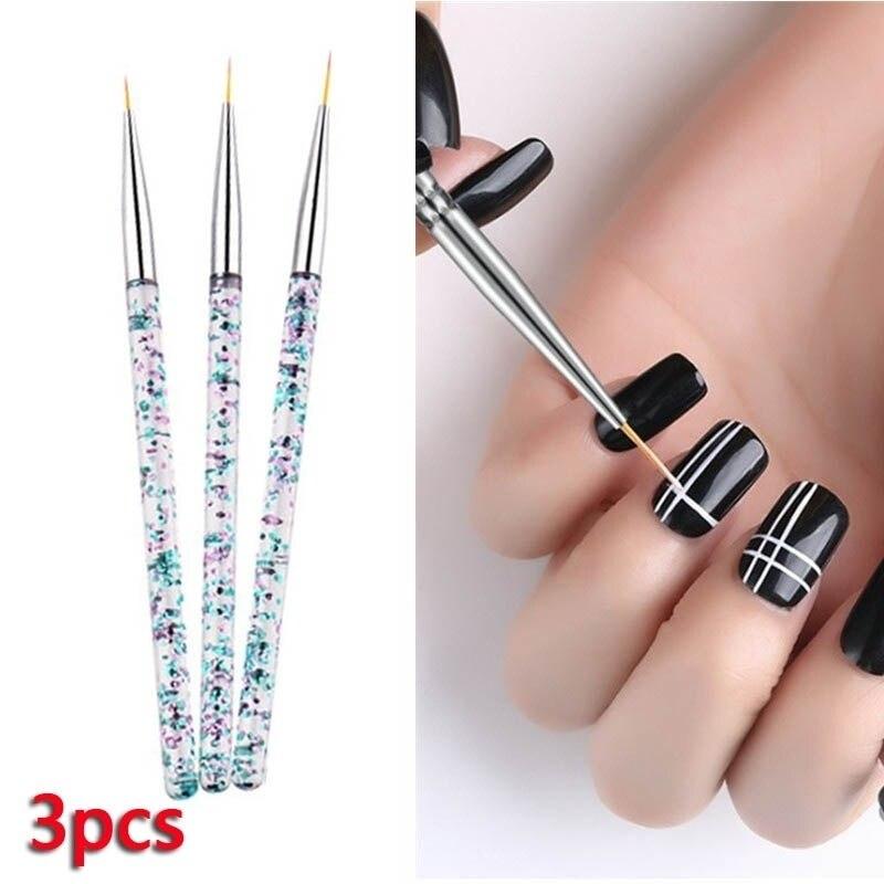 3pcs Nail Brush