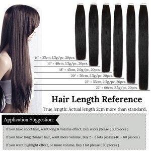 Image 2 - MRSHAIR 100g 40 adet bant insan saçı postiş makinesi Remy saç bant üzerinde PU cilt atkı dikişsiz insan saçı