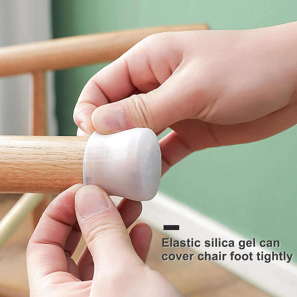 36 قطعة سيليكون مستديرة الجدول كرسي قدم غطاء الطابق حامي أقدام أثاث المضادة للخدش وسادة واقية المضادة للانزلاق كرسي الساق قبعات