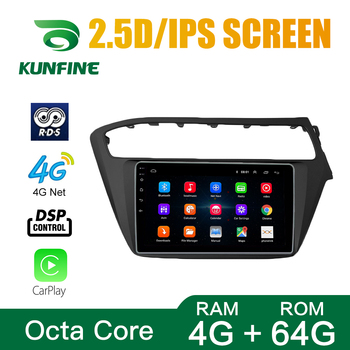 Octa Core Android 10.0 Car DVD GPS Navigation Player Deckless Car Stereo For HYUNDAI I20 2018-2019 RHD LHD Radio Headunit image