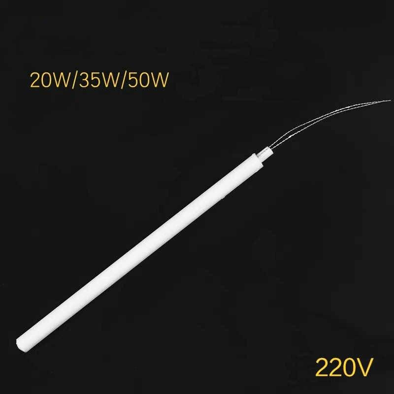 Elemento de solda, aquecedor elétrico cerâmico temperatura ajustável 220v 110v 20w 35w 50w solda adaptador interno,