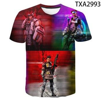 Boy Girl Kids Games Apex Legends Casual Fashion Men Women Children 3D Printed T Shirt Short Sleeve Casual Cool Tops Tee 2