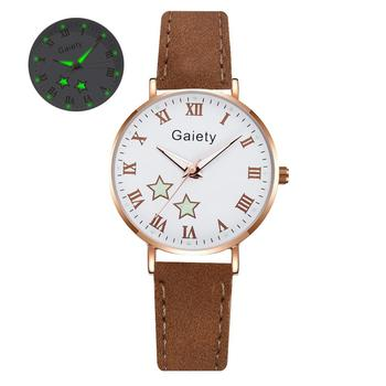 2021 NEW Women Watches Simple Vintage Small Watch Leather Strap Casual Sports Wrist Clock Dress Wristwatches Reloj mujer - G666-CO