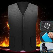 Унисекс с подогревом жилет с подогревом куртка USB инфракрасный обогрев жилет куртка зима теплый электрический термальный одежда жилет спорт пешие прогулки