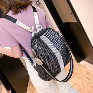 Image 5 - Multifunction Women Backpacks Shoulder Bags Fashion Summer Backpack Leather Women Backpacks Light Lady Large Capacity School Bag
