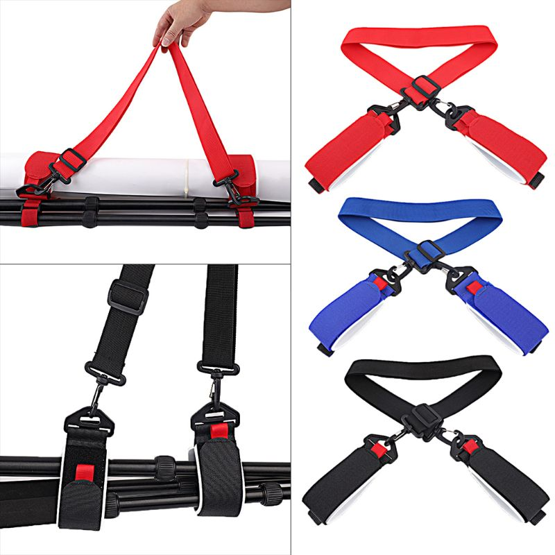Adjustable Skiing Poles Shoulder Hand Carrier Lash Handle Straps Porter Hook Loop Protecting Black Nylon Ski Handle Strap Bags