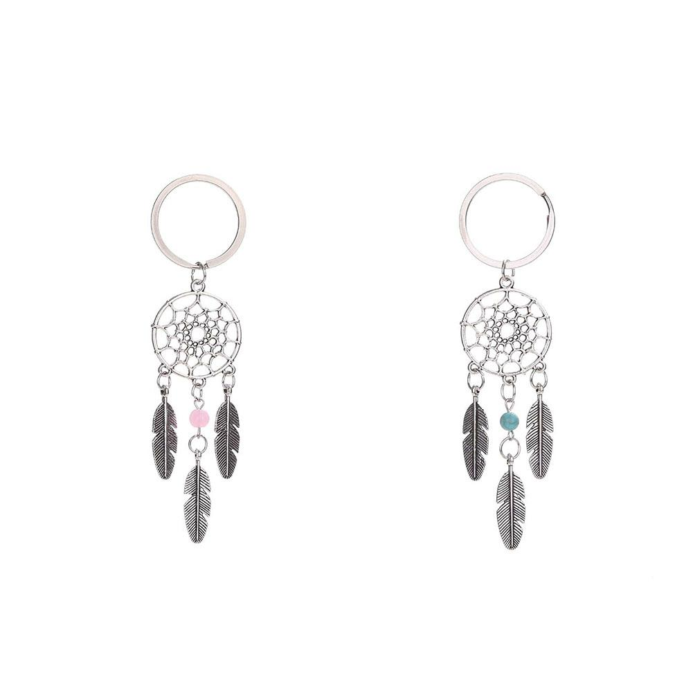 Dreamer Dream Catcher Simple And Stylish Key Ring Buckle Pendant Keychain Women Vintage Indian Style Keychain Alloy Car Pendant