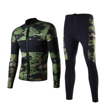 2.5mm Neopreen Groen Camo Duiken Wetsuit Top Snorkelen Surfen Winter Zwemmen Kajak Jetski Warm Thermische(China)