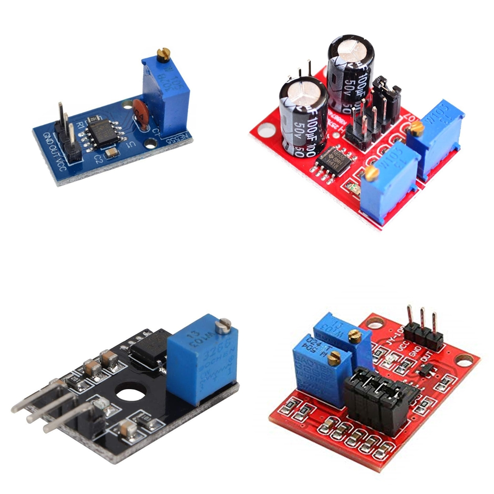 NE555 Pulse Frequency Duty Cycle Adjustable Module Square Wave 5V-12V Signal Generator(China)