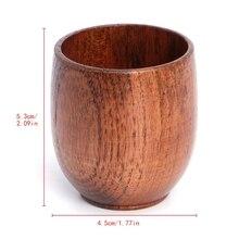 Маленькая Традиционная ручная работа из натурального массива дерева чашка для вина деревянная кружка для чая