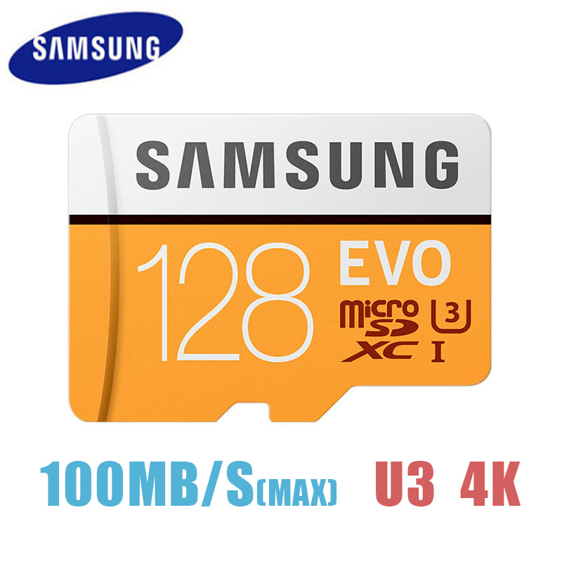 Carte Micro SD d'origine SAMSUNG EVO 64 go 128 go carte mémoire U3 Class10 tarjeta carte flash micro sd tf carte mémoire |