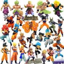 Figuras de acción de Dragon Ball Z, Goku, Gohan, Vegeta, Broly, Anime, Bola de Dragón, Super bolas de cristal, figuras coleccionables, juguetes DBZ