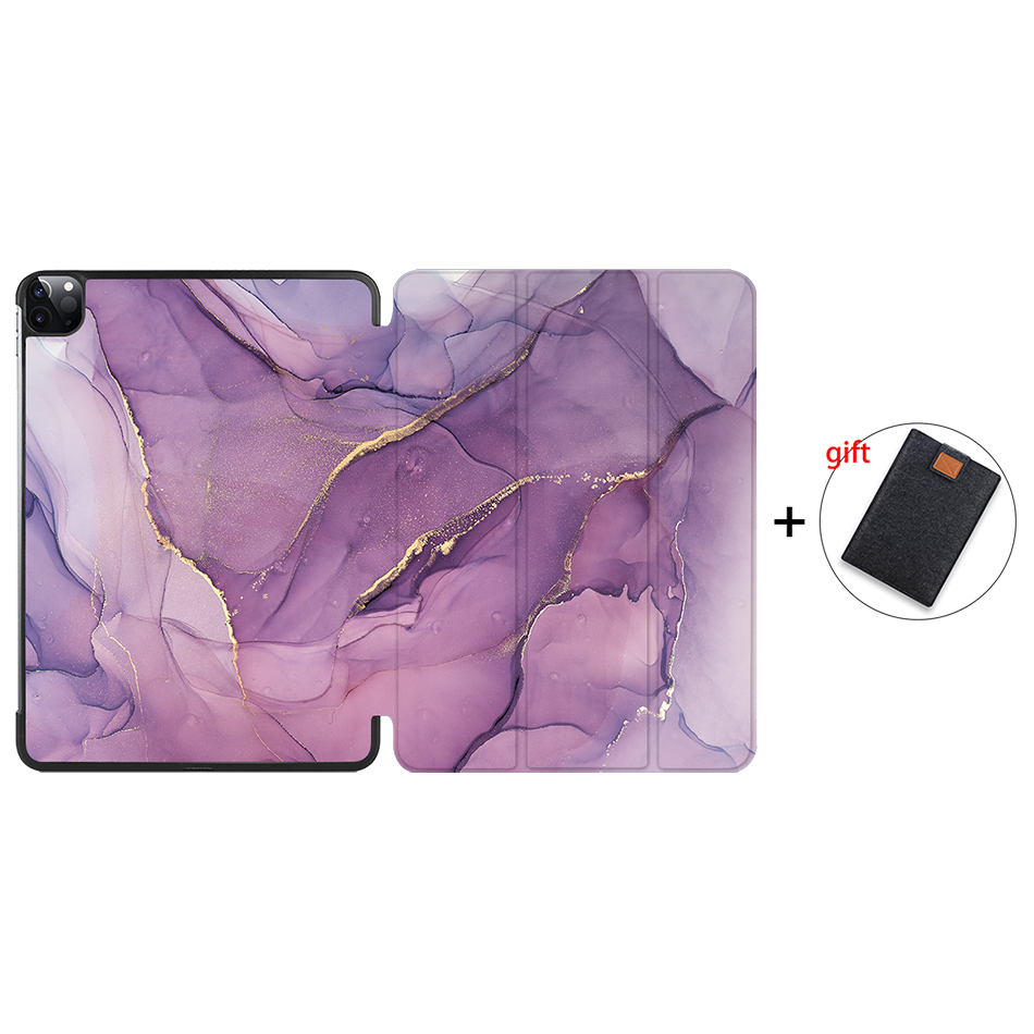IP01 Red MTT 2020 Marble Tablet Case For iPad Pro 11 inch A2228 A2231 PU Leather Magnetic Fold