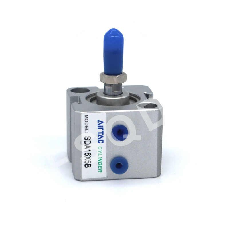 SDA16X5 SDA16X10 SDA16X15 SDA16X20 SDA16X25 SDA16X30 SDA16X35 FSQD AIRTAC Ultra ince silindir çift eylem SDA serisi