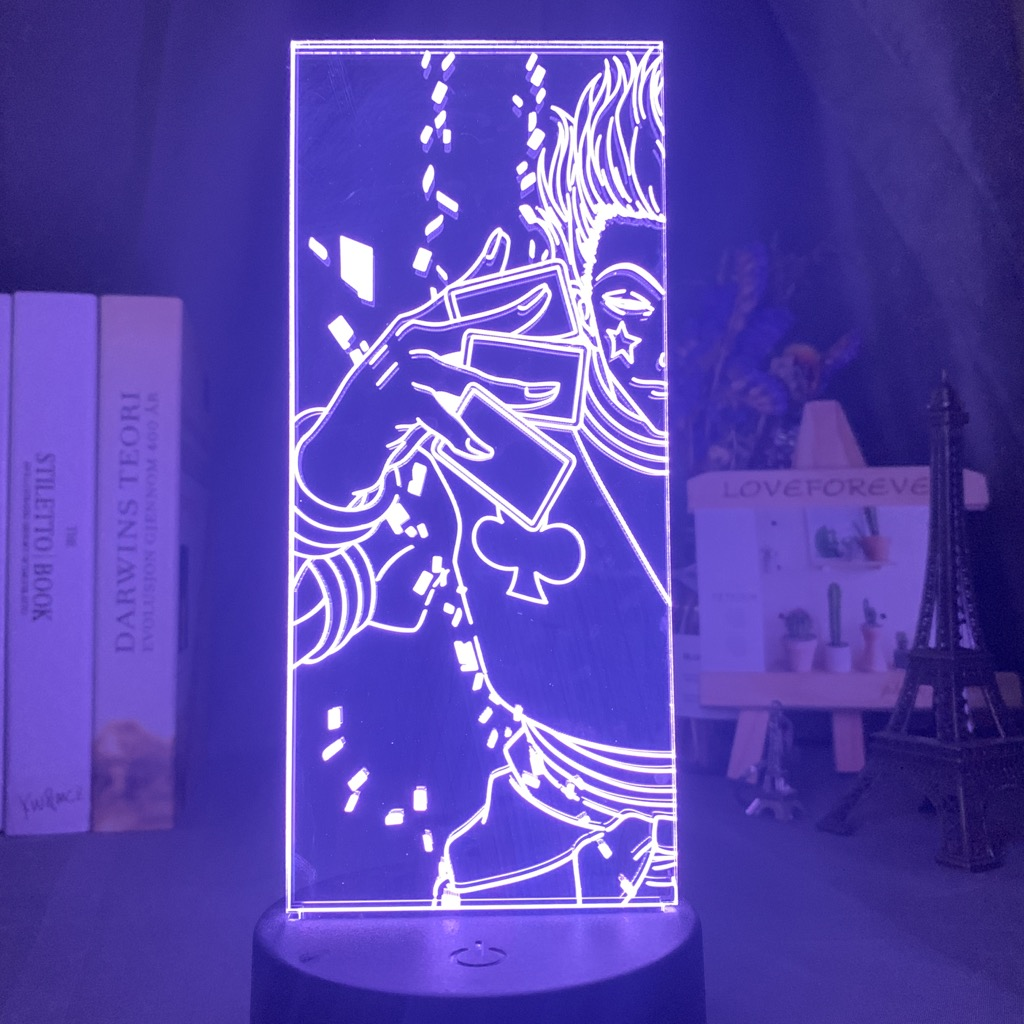 Hisoka Kids Night Light Led Colorful Child Bedroom Nightlight Anime Hunter X Hunter Home Decoration 3d Lamp Birthday Gift