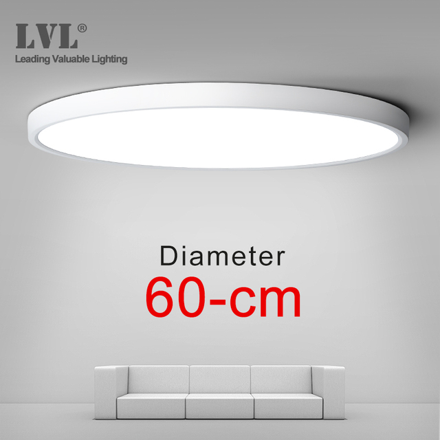 Светодиодная панельная лампа высокой мощности, 36 Вт, 45 Вт, D480, D600, 220 В, домашнее освещение, 5000K, лампы для гостиной, ультратонкая панельная лампа для поверхностного монтажа