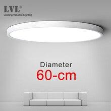 LED 36W 45W D480 D600 220V Lighing 5000K Livingห้องนอนโคมไฟultrathinติดตั้งพื้นผิวโคมไฟ