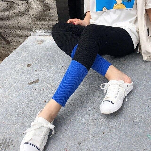 2019 Nova Moda Primavera E No Verão das Mulheres de Alta Elasticidade E Boa Qualidade de Fitness Fino Capris Calças Leggings De Algodão Streetwear