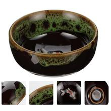 Creative Round Delicate Ink Dish Ceramic Ink Plate Calligraphy Painting Ink Bowl